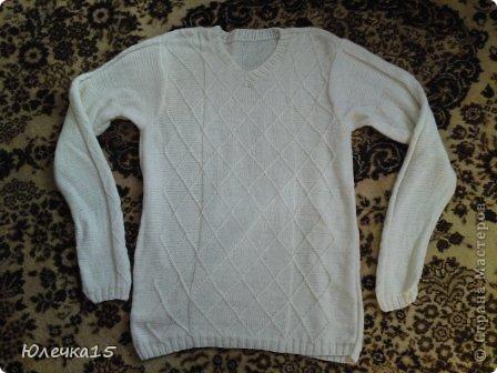 Связала себе такой свитерок, тепленький 80% шерсти фото 3
