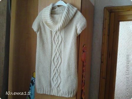 Связала себе такой свитерок, тепленький 80% шерсти фото 1