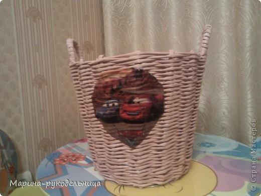 Давно сплела корзину для игрушек, вот представляю вашему вниманию фото 1
