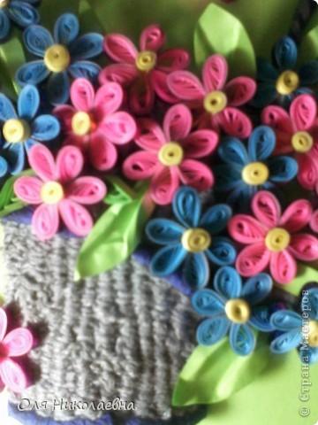 Корзина с цветами. Спасибо огромное Ольге Ольшак за идею!  фото 2