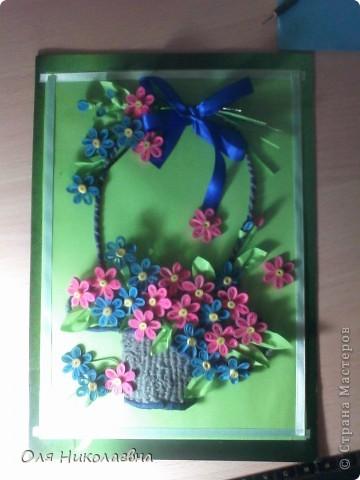 Корзина с цветами. Спасибо огромное Ольге Ольшак за идею!  фото 4