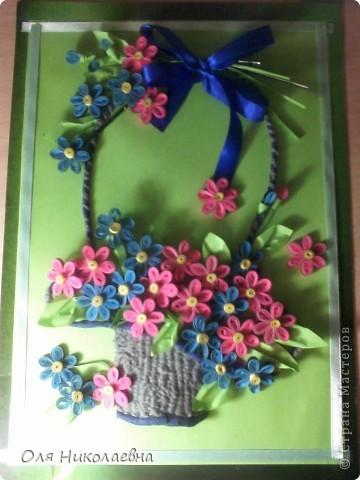 Корзина с цветами. Спасибо огромное Ольге Ольшак за идею!  фото 1
