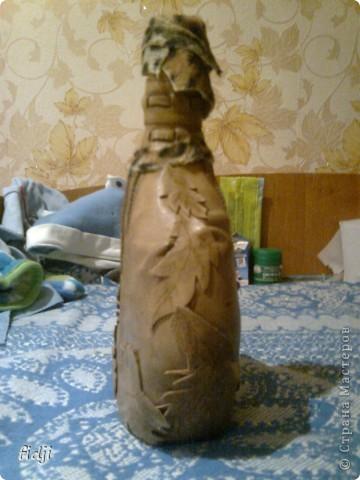Бутылочка из кожи фото 3
