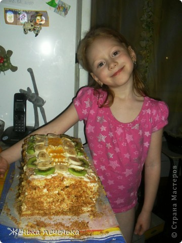 Вот такой тортик испекли мы с дочей для племянницы на День Варенья фото 4