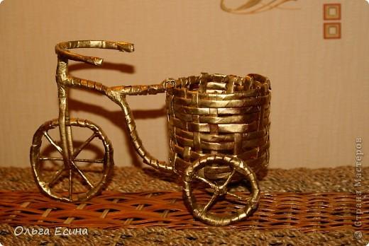 Велосипед из газет
