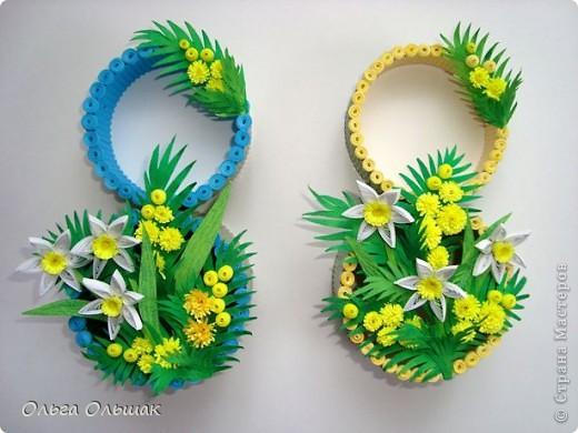 Ну вот,последние подарочки к 8 марта готовы.На этот раз сувенирчики-восьмёрочки для подружек Кати и Насти. фото 6