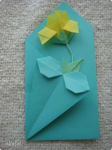 Вот такие розы будем делать завтра на кружке. Я их пока не прикрепила к конверту. фото 33