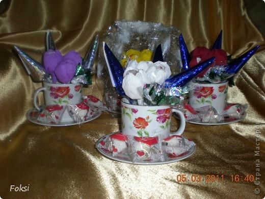 Готовясь к празднику сделала вот такие подарочки для воспитателей доченьки которые еще и мои коллеги. фото 2