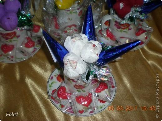 Готовясь к празднику сделала вот такие подарочки для воспитателей доченьки которые еще и мои коллеги. фото 3