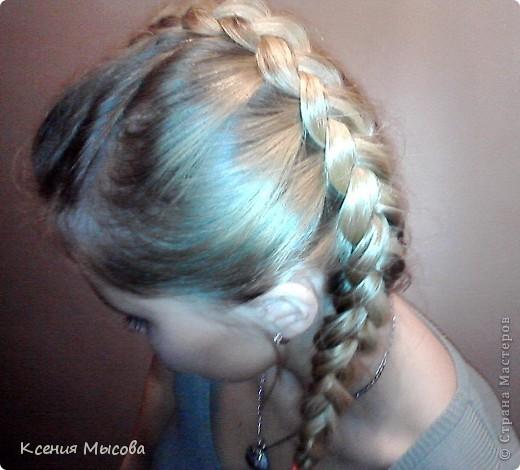 Такая коса смотрится лучше всего на светлых волосах,а на темных теряется.... фото 2