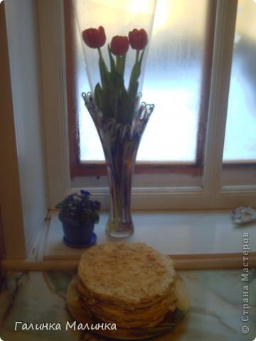 рецепт прост: готовое слоеное тесно,масло и сгущенное молоко фото 2