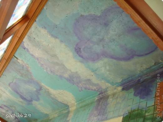 Вот такие цветочки я нарисовала в своем подъезде ,краску использовала обычную масляную для окон для цвета брала разные колера .Соседи были в полном восторге)) фото 8