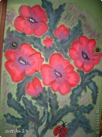 Вот такие цветочки я нарисовала в своем подъезде ,краску использовала обычную масляную для окон для цвета брала разные колера .Соседи были в полном восторге)) фото 2