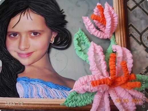 Это фото дочери моей подруги, решила сделать им подарочек к 8 Марта. Яночка и так красавица,но захотелось  немножко преобразить. Надеюсь им понравиться.Формат А-4. фото 3