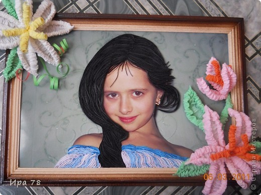 Это фото дочери моей подруги, решила сделать им подарочек к 8 Марта. Яночка и так красавица,но захотелось  немножко преобразить. Надеюсь им понравиться.Формат А-4. фото 1