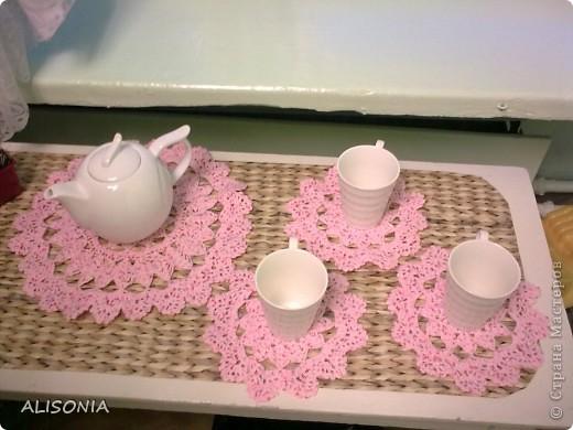 Вязание крючком - Вязаные салфетки для чая.