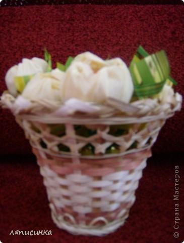 Вот такие букеты из конфет. фото 4