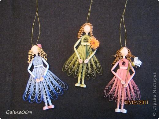 Можно использовать как елочные украшения. А если сзади у куколок сделать крылышки, получатся ангелочки. фото 2