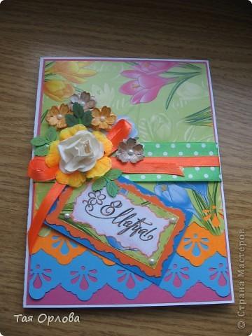 Добрый день всем!На ваш суд еще одна кучка открыток к 8 марта и не только.Нашли применение подарки из Светиной посылки-цветочки,листочки ,бабочки ,бусинки,картон.Две первые открытки просто с пылу с жару. фото 2