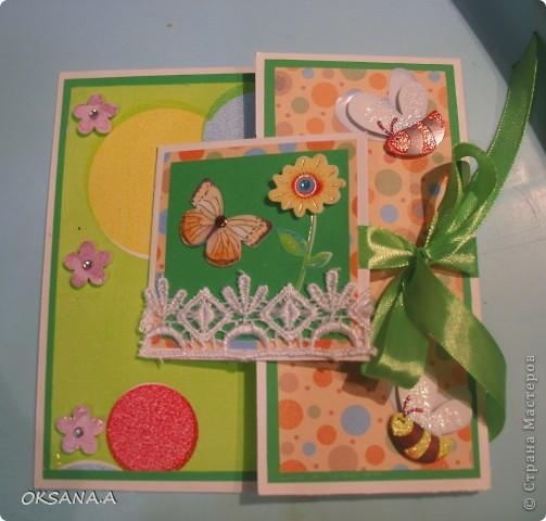 Открытка на День Рождение дочкиной подружке. Девочке исполнилось 5 лет, поэтому на открытке 5 бантиков. фото 5