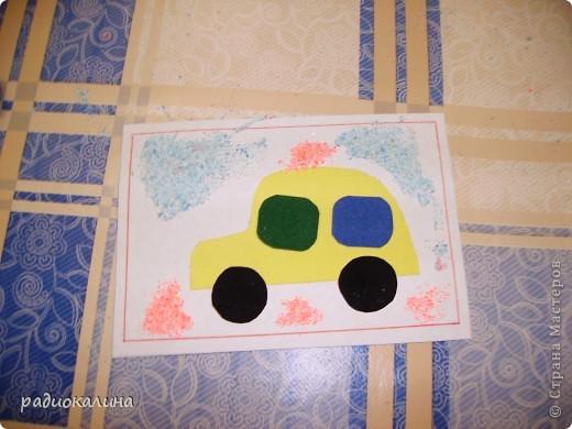 Каждому папе по машине - решили мы с малышами и старательно делали открытки к 23 февраля. Это Маша и ее машина. фото 2