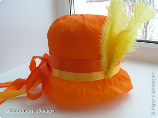 Радужные шляпки. Сделала для танца девочкам подготовительно группы. Вспомнила детский стишок... фото 3