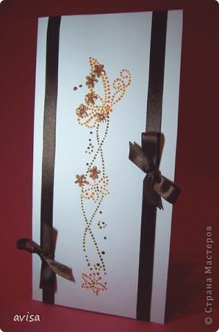 Серия открыток к 8 марта. Бумага, атласные ленты, витражные краски, пайетки. фото 4