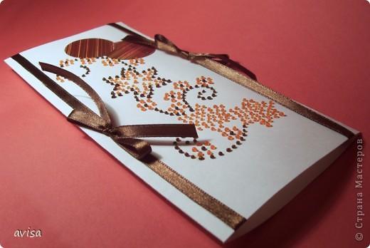 Серия открыток к 8 марта. Бумага, атласные ленты, витражные краски, пайетки. фото 6