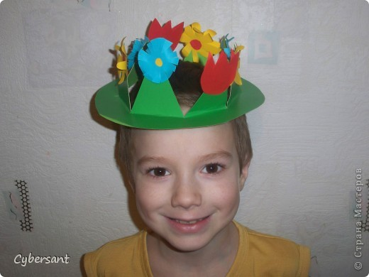 Шляпа из бумаги для детей