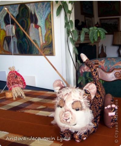 Вдохновившись работой Вдохновленной , чье МК http://stranamasterov.ru/node/40550?c=favorite  пришлось, как нельзя кстати - одной из внучек 13 марта исполняется 13 лет ,а значит она тигр и рыба, решила ей сделать игрушки к дню рождения из ивановских ситцев. Большое спасибо Вдохновленной и желаю ей еще большего вдохновения. фото 5