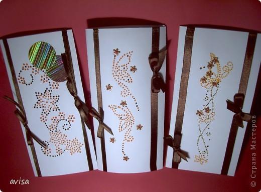Серия открыток к 8 марта. Бумага, атласные ленты, витражные краски, пайетки. фото 8