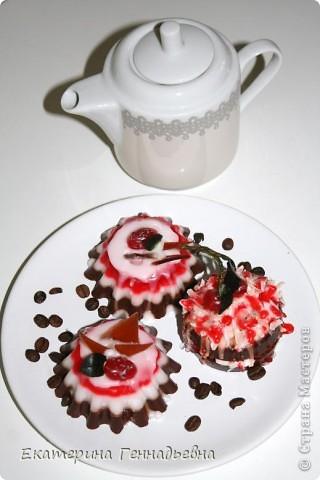 Шоколадно-клубничное суфле. фото 3