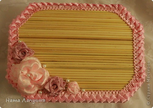Мастер-класс 8 марта День матери День рождения Свадьба МК Шкатулка из шпажек Розовое настроение  фото 21