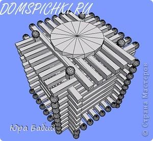 Чуть ниже указано, как делать такой домик, шириной у 8 спичек, но у меня сделано с шириной у 7 спичек, так как 8 спичек не влезают. фото 13