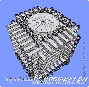 Чуть ниже указано, как делать такой домик, шириной у 8 спичек, но у меня сделано с шириной у 7 спичек, так как 8 спичек не влезают. фото 14