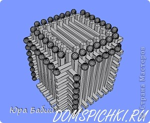 Скульптура Домик из спичек Спички фото 19