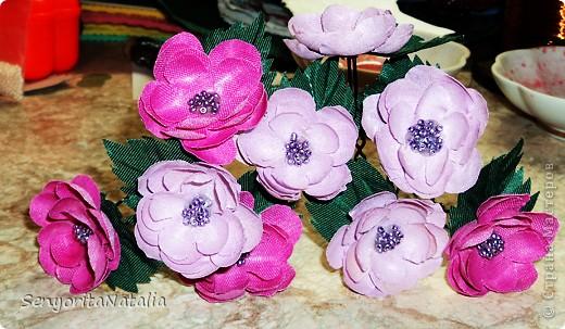 Цветы из ткани фото 9