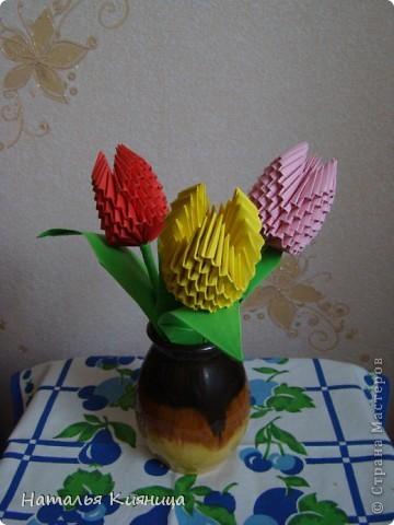 Тюльпаны, сделанные руками моих девочек... фото 1