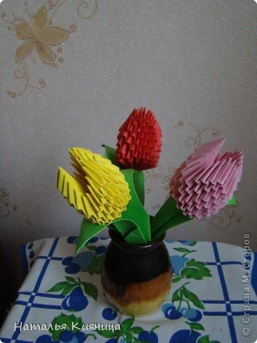 Тюльпаны, сделанные руками моих девочек... фото 2