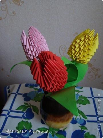 Тюльпаны, сделанные руками моих девочек... фото 3