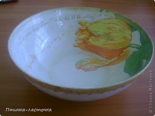 """Обратный декупаж очаровал... """"Тюльпаны""""  Тарелка квадратная 19х19 см, куплена в """"Ашане"""" фото 7"""
