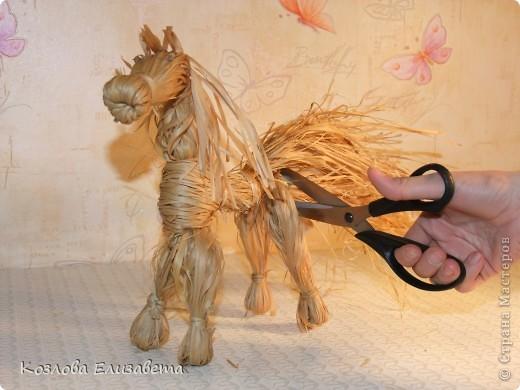 Лошадка из лыка фото 20
