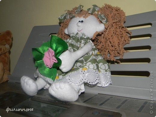 Вот такую девчушку сшила дочкам на 8 марта. Это Фея сна. Дочки назвали её Варенька. фото 3