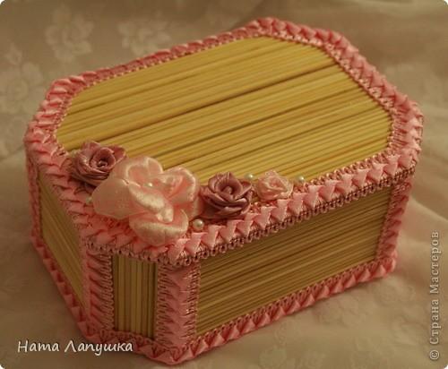 Мастер-класс 8 марта День матери День рождения Свадьба МК Шкатулка из шпажек Розовое настроение  фото 1