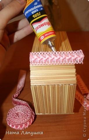 Мастер-класс 8 марта День матери День рождения Свадьба МК Шкатулка из шпажек Розовое настроение  фото 12