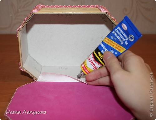Мастер-класс 8 марта День матери День рождения Свадьба МК Шкатулка из шпажек Розовое настроение  фото 16