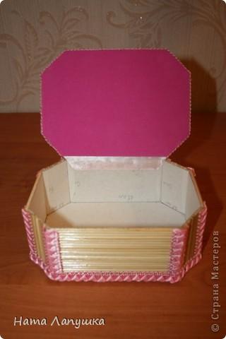 Мастер-класс 8 марта День матери День рождения Свадьба МК Шкатулка из шпажек Розовое настроение  фото 17