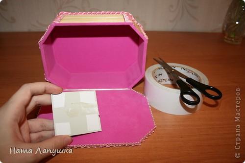 Мастер-класс 8 марта День матери День рождения Свадьба МК Шкатулка из шпажек Розовое настроение  фото 18