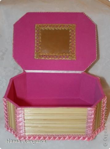 Мастер-класс 8 марта День матери День рождения Свадьба МК Шкатулка из шпажек Розовое настроение  фото 20