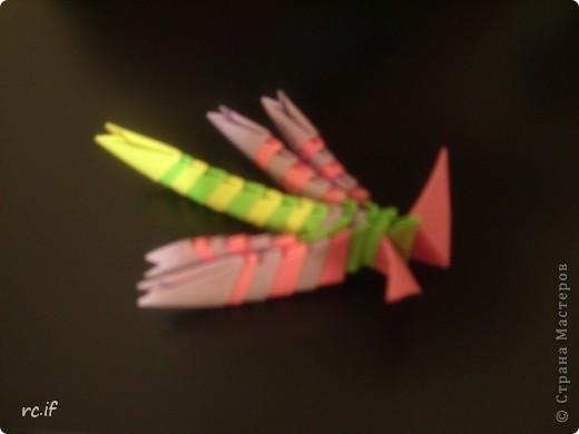 Стрекозка по МК Татьяны Просняковой: моя первая и последняя работа в технике модульное оригами фото 3
